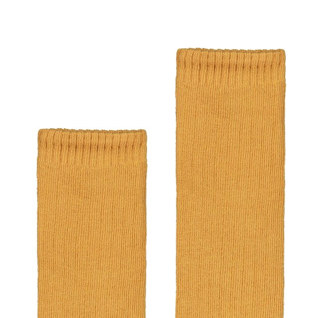 Long Ribbed Socks Mustard img1