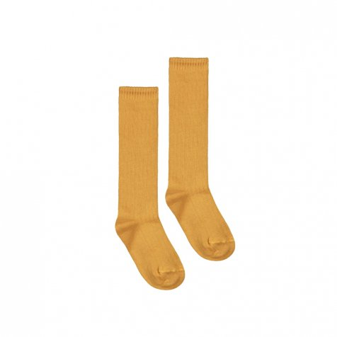 Long Ribbed Socks Mustard