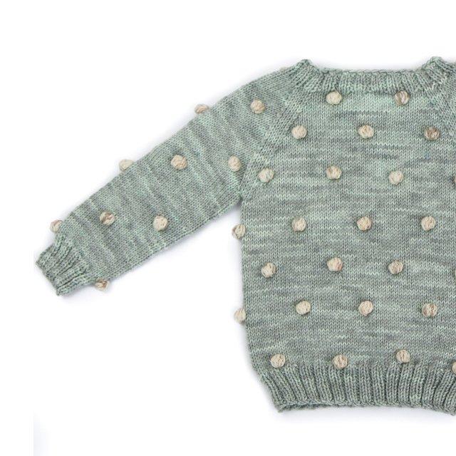 【30%OFF】Viola Sweater Celadon/Natural img1