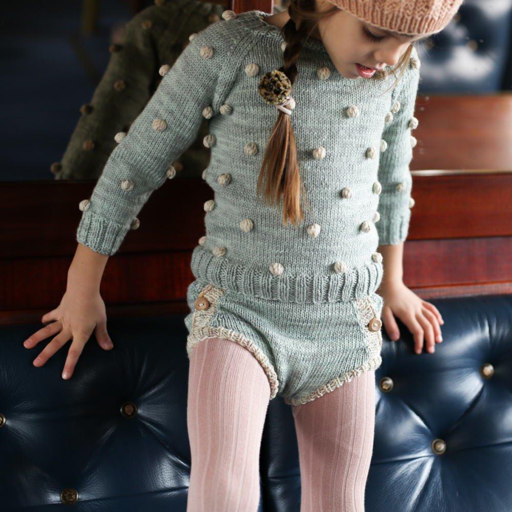 【30%OFF】Viola Sweater Celadon/Natural img3