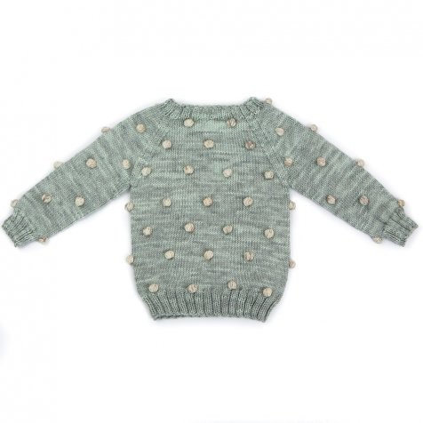 【9月入荷予定】Viola Sweater Celadon/Natural