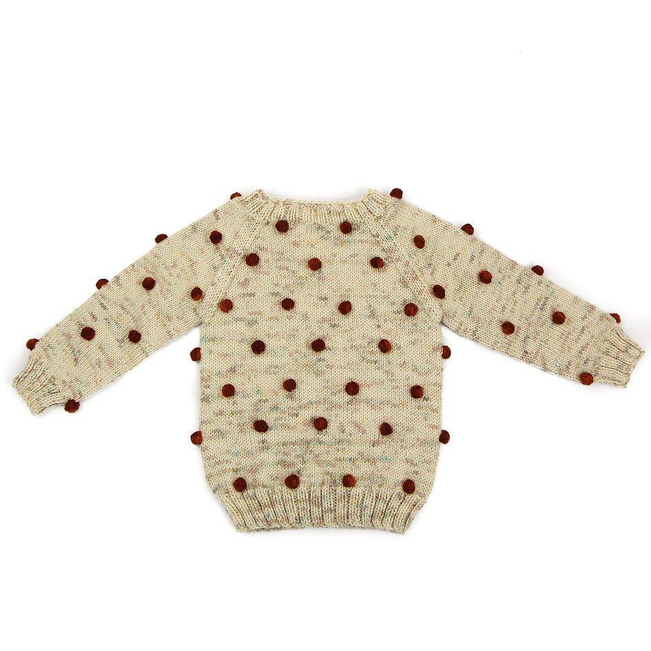【30%OFF】Viola Sweater Natural/Maroon img