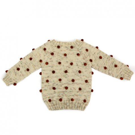 【30%OFF】Viola Sweater Natural/Maroon