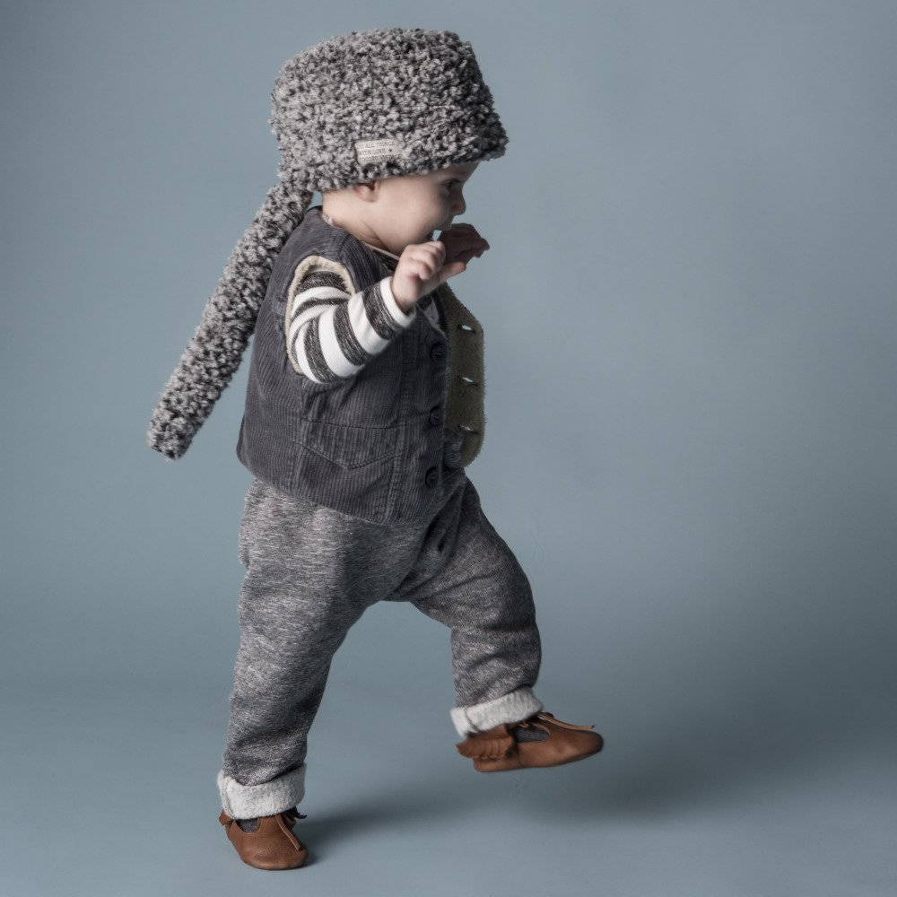 【WINTER SALE 20%OFF】W13118. BABY PLUSH PANTS SUSPENDERS img