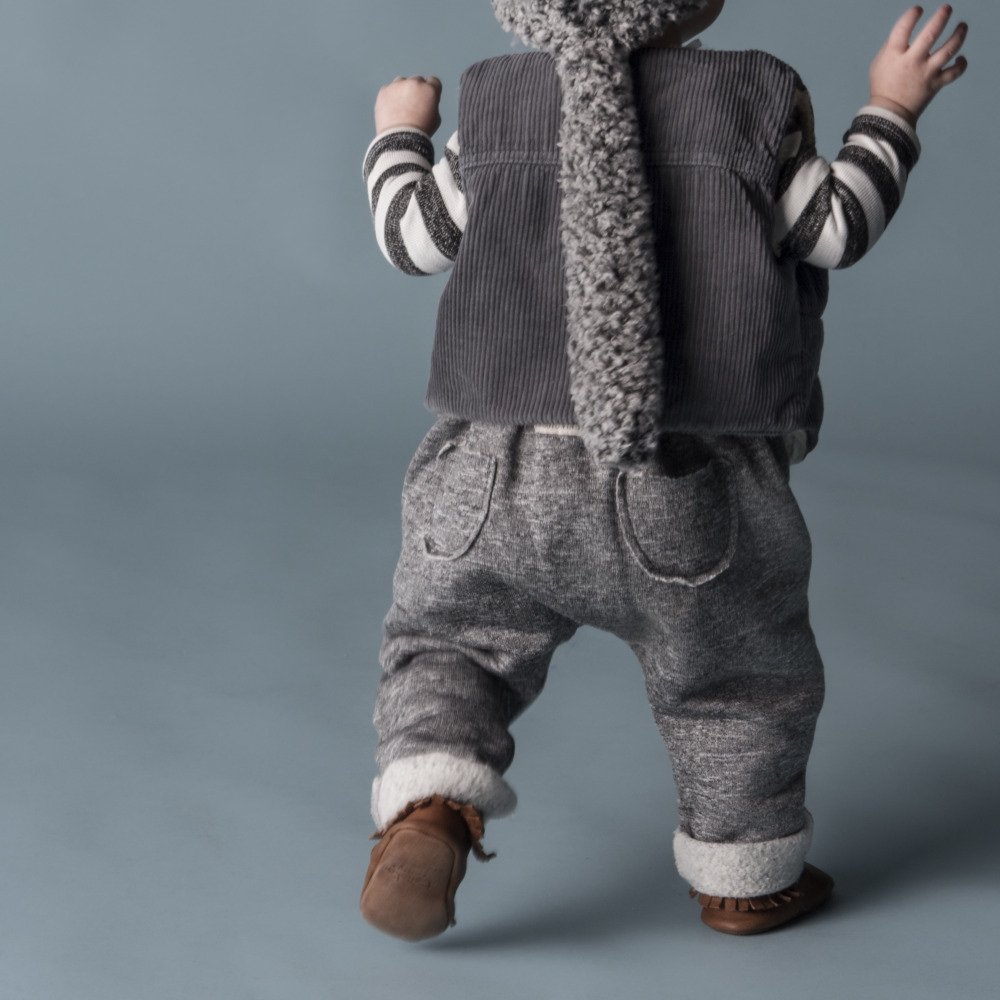 【WINTER SALE 20%OFF】W13118. BABY PLUSH PANTS SUSPENDERS img2