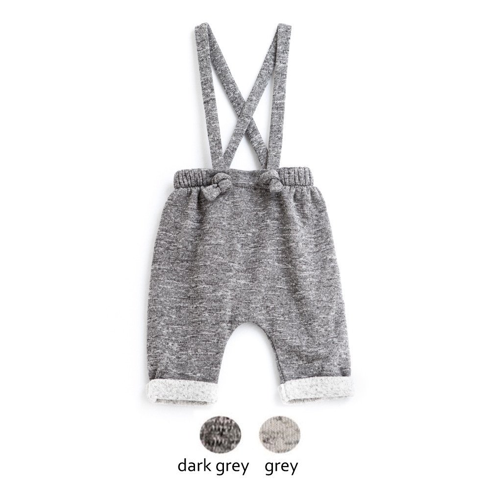 【WINTER SALE 20%OFF】W13118. BABY PLUSH PANTS SUSPENDERS img3