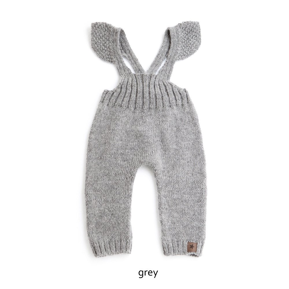 【WINTER SALE 20%OFF】W40818. GIRL KNITTED OVERALLS img1