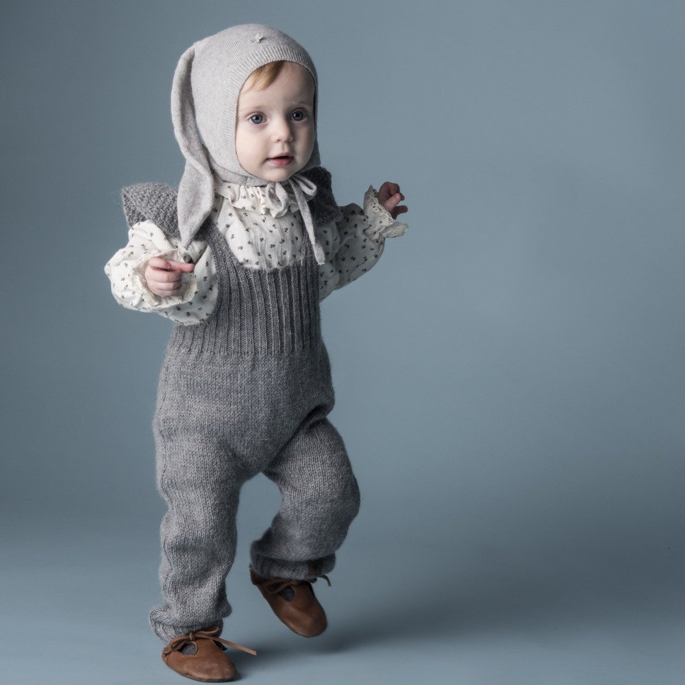 【WINTER SALE 20%OFF】W40818. GIRL KNITTED OVERALLS img6