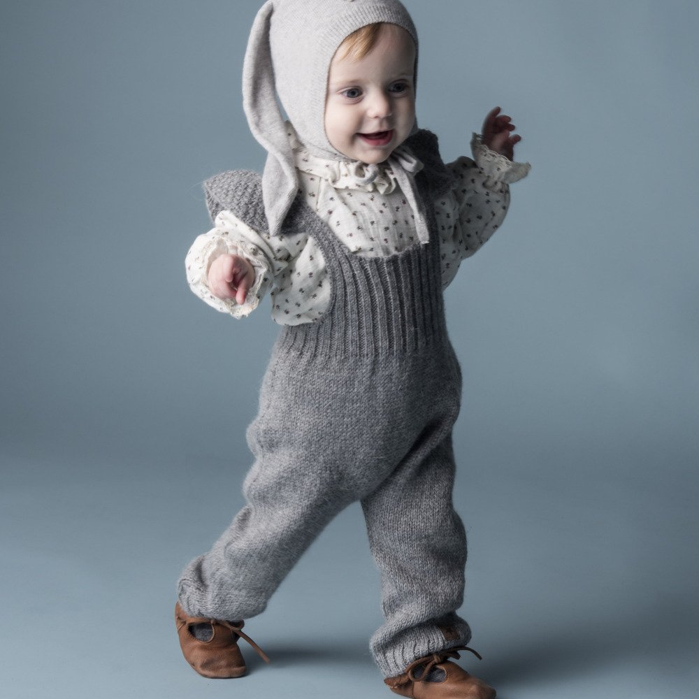 【WINTER SALE 20%OFF】W40818. GIRL KNITTED OVERALLS img7