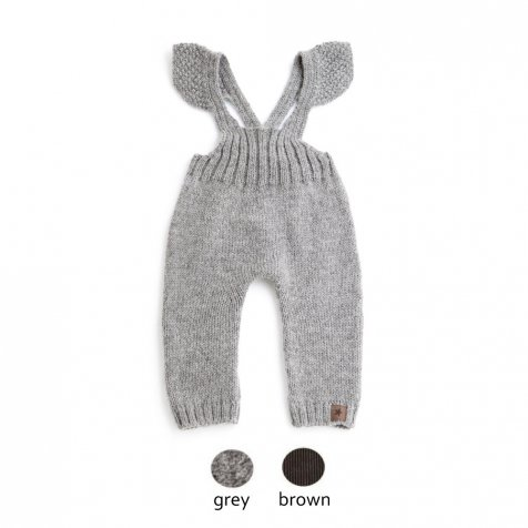 W40818. GIRL KNITTED OVERALLS