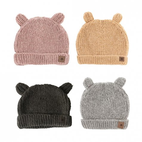 W70318. KNITTED BEAR CAP