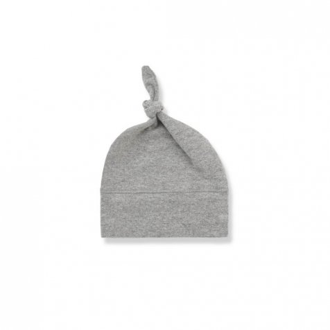 FINA beanie w/knot light grey