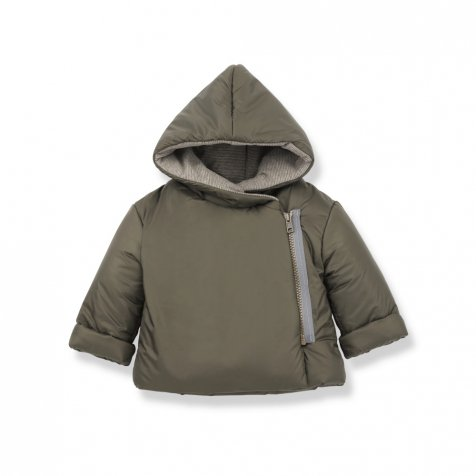 HANSEL zipper jacket khaki