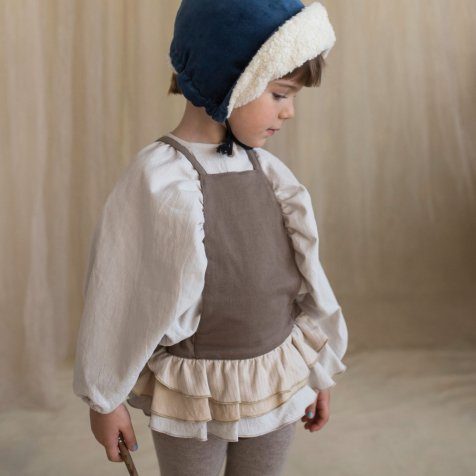 【30%OFF→40%OFF】Stone-coloured Romper Suit with Frill