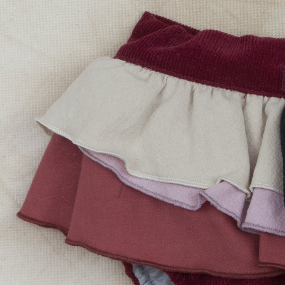 【SUMMER SALE 30%OFF】Burgundy Culotte with Frill img2