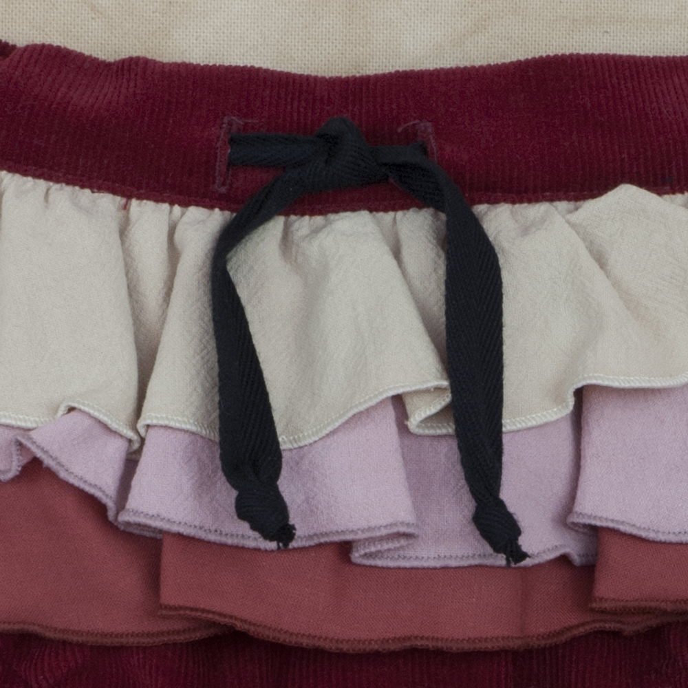 【SUMMER SALE 30%OFF】Burgundy Culotte with Frill img3