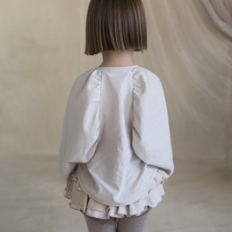Off-white Shirt with Puffed Sleeve