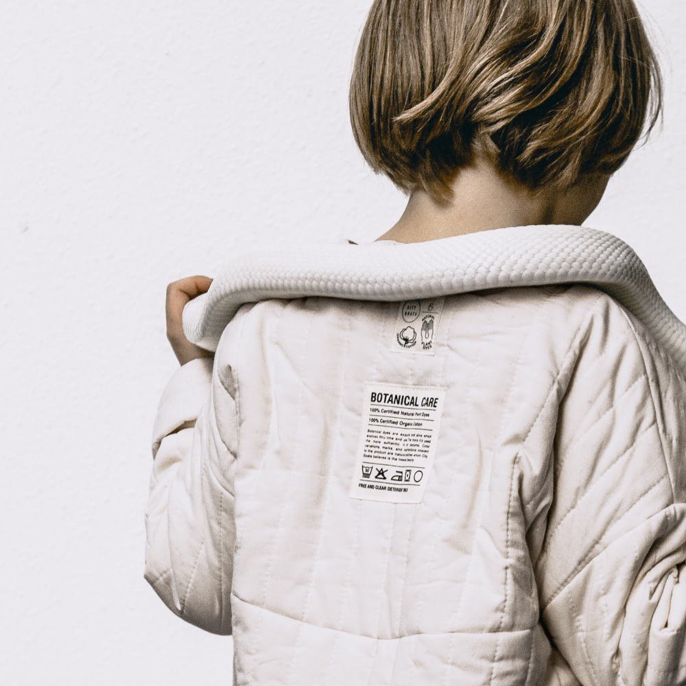 【WINTER SALE 20%OFF】Quilted Stripe Jacket / Muted White img