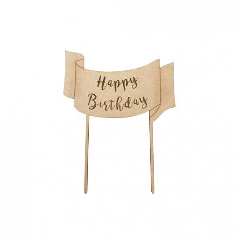 happy birthday ケーキトッパーハッピーバースデー ribbon