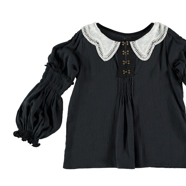 【WINTER SALE 20%OFF】Blouse GRECO Dark Grey Cotton img5