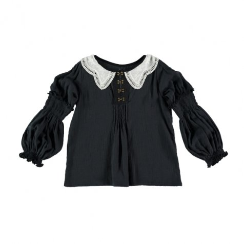 【30%OFF→40%OFF】Blouse GRECO Dark Grey Cotton