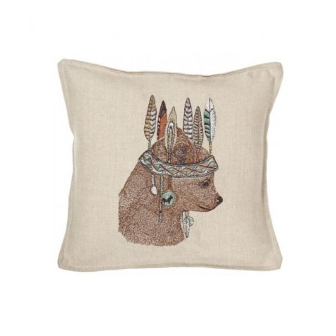 Bear Portrait Pillow