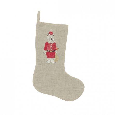 Polar Bear Santa Stocking
