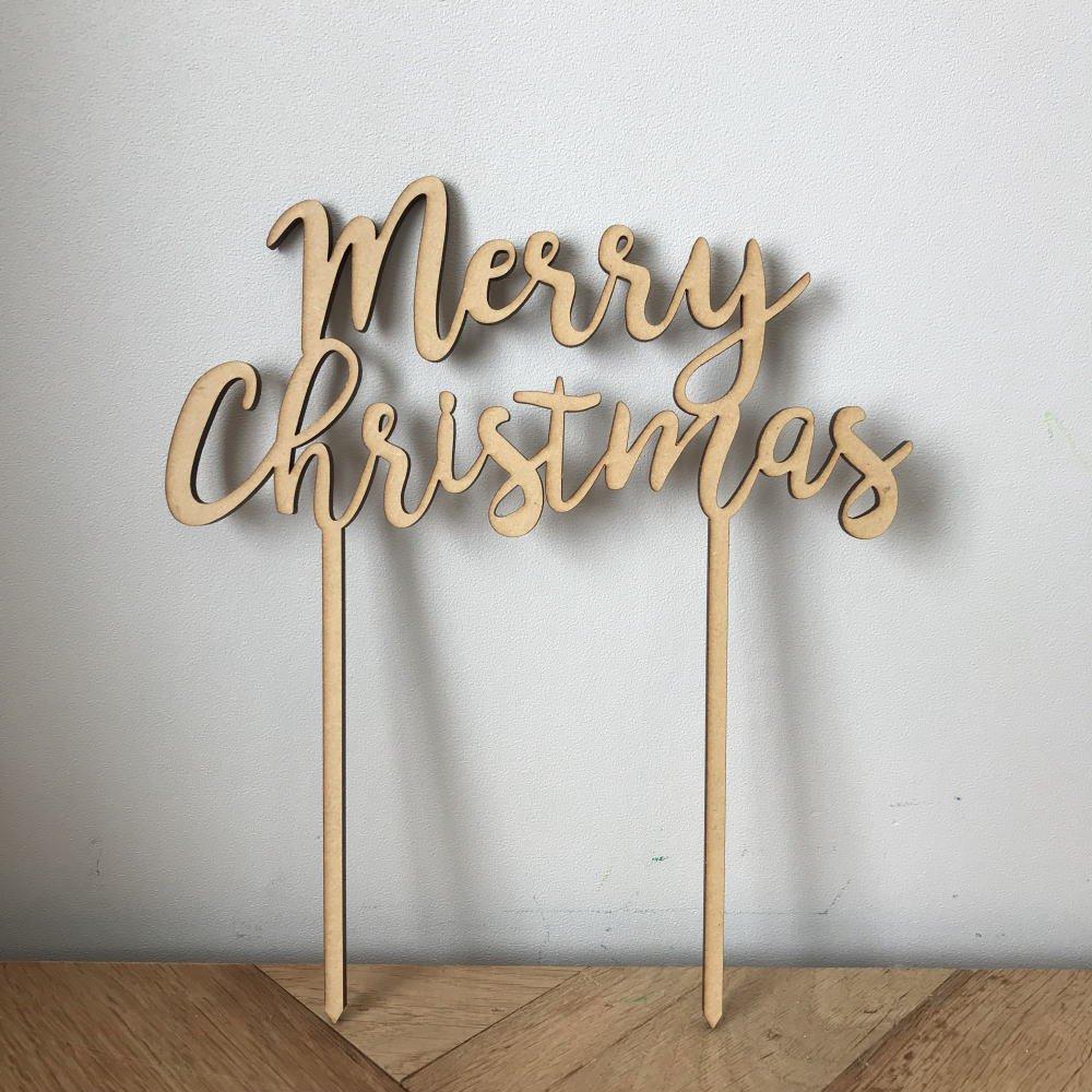 Merry Christmas 木製トッパー img1