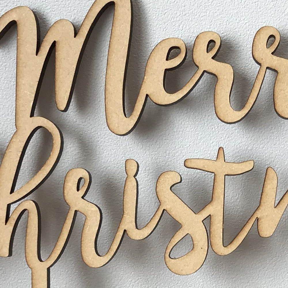 Merry Christmas 木製トッパー img2