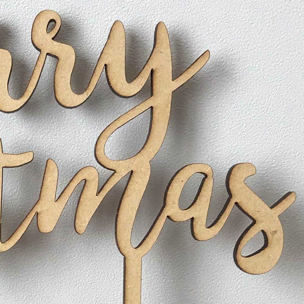 Merry Christmas 木製トッパー img3