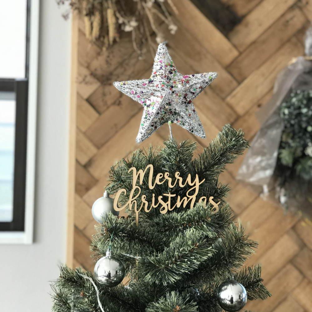 Merry Christmas 木製トッパー img5