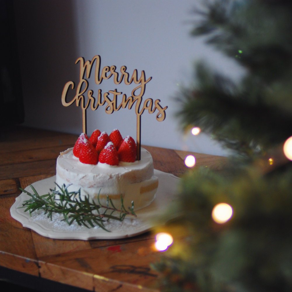 Merry Christmas 木製トッパー img6