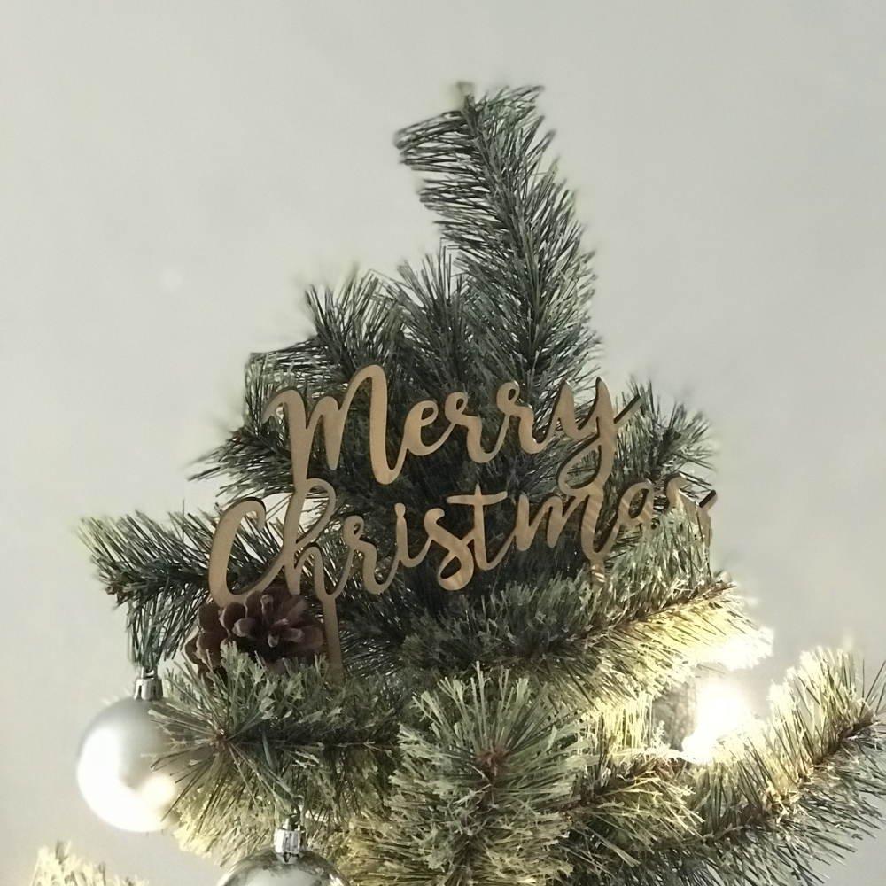 Merry Christmas 木製トッパー img7