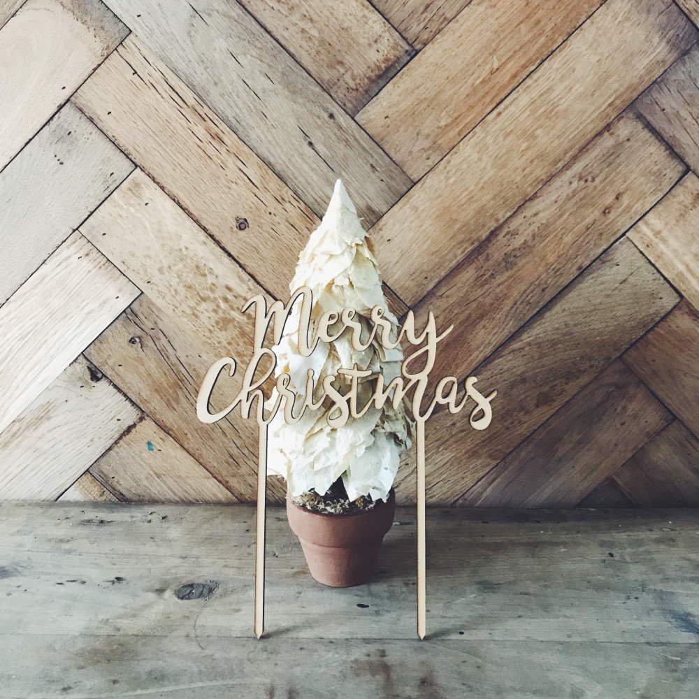 Merry Christmas 木製トッパー img8