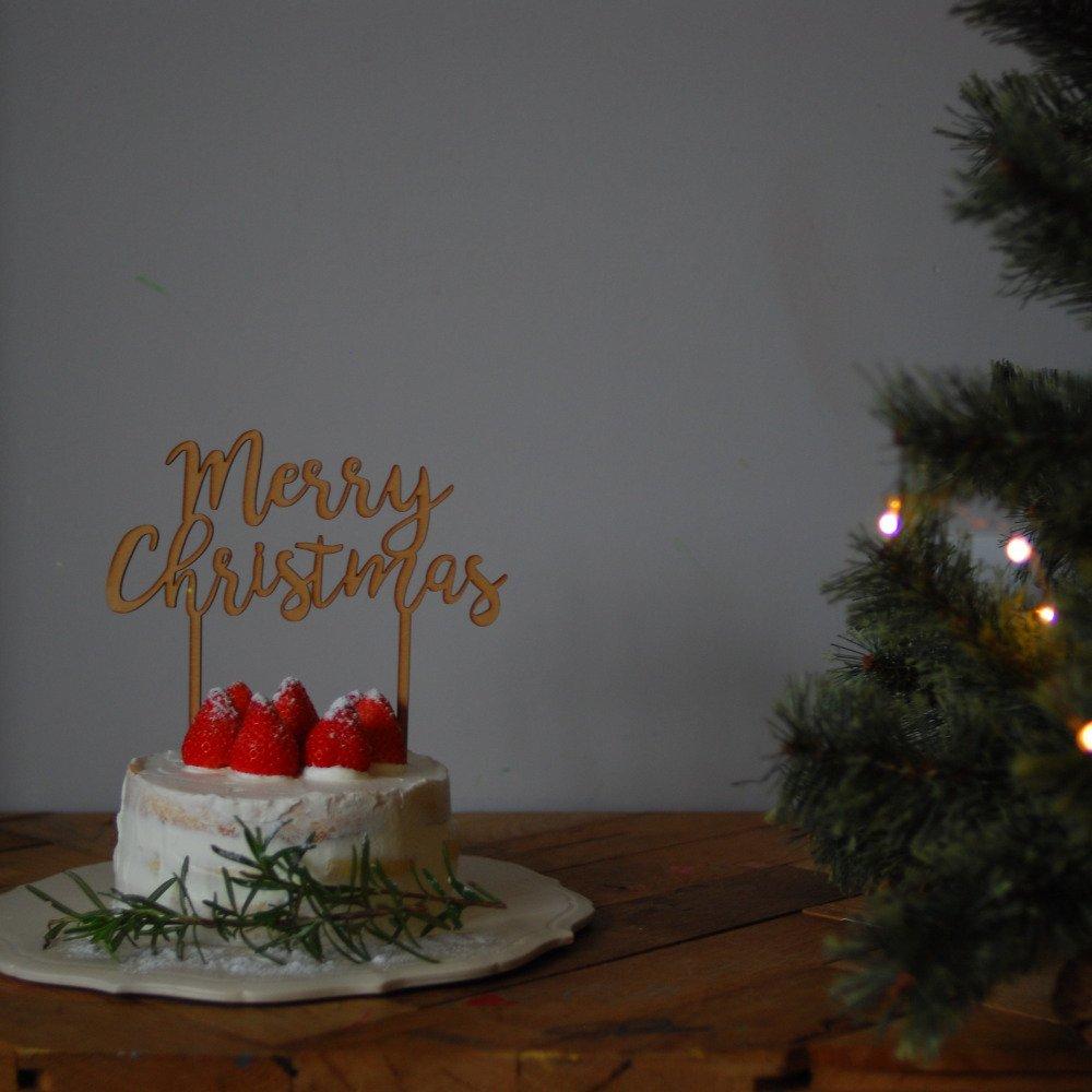 Merry Christmas 木製トッパー img9