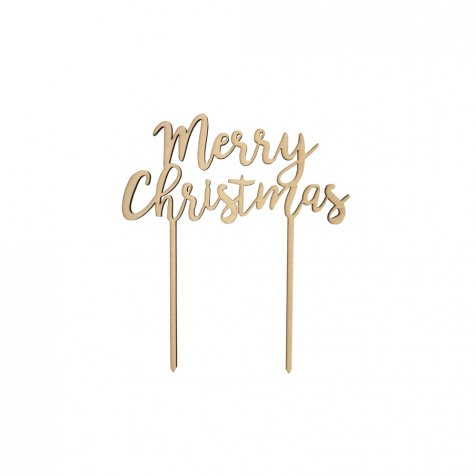 【10月23日正午販売開始】Merry Christmas 木製トッパー