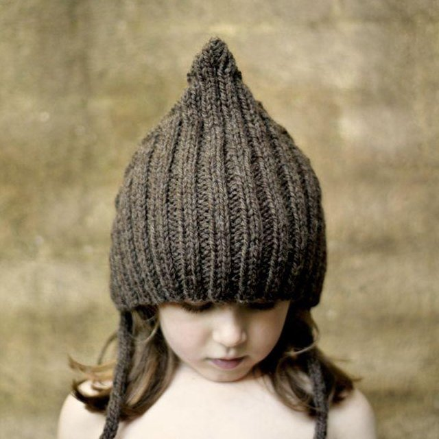 【WINTER SALE 20%OFF】Chubby Pixie hat Chocolate img