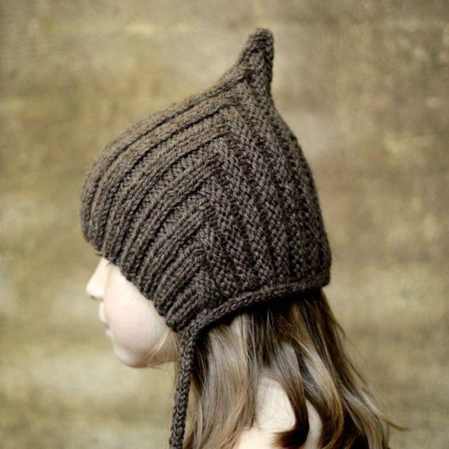 【WINTER SALE 20%OFF】Chubby Pixie hat Chocolate img1
