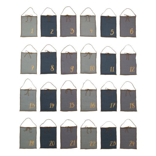 Advent Calender Gift Bags Mix Blue img