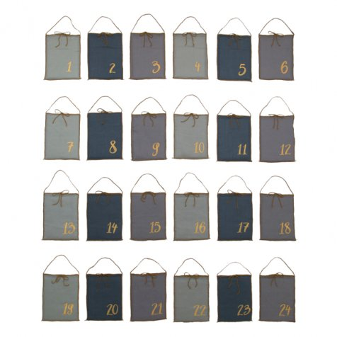 Advent Calender Gift Bags Mix Blue
