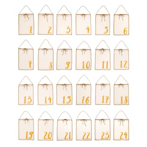 Advent Calender Gift Bags Natural