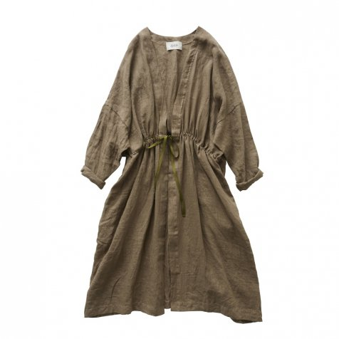 linen gown coat brown