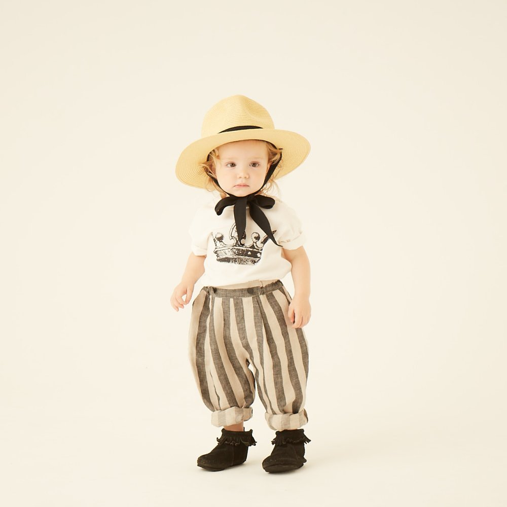 stripe linen pants img5