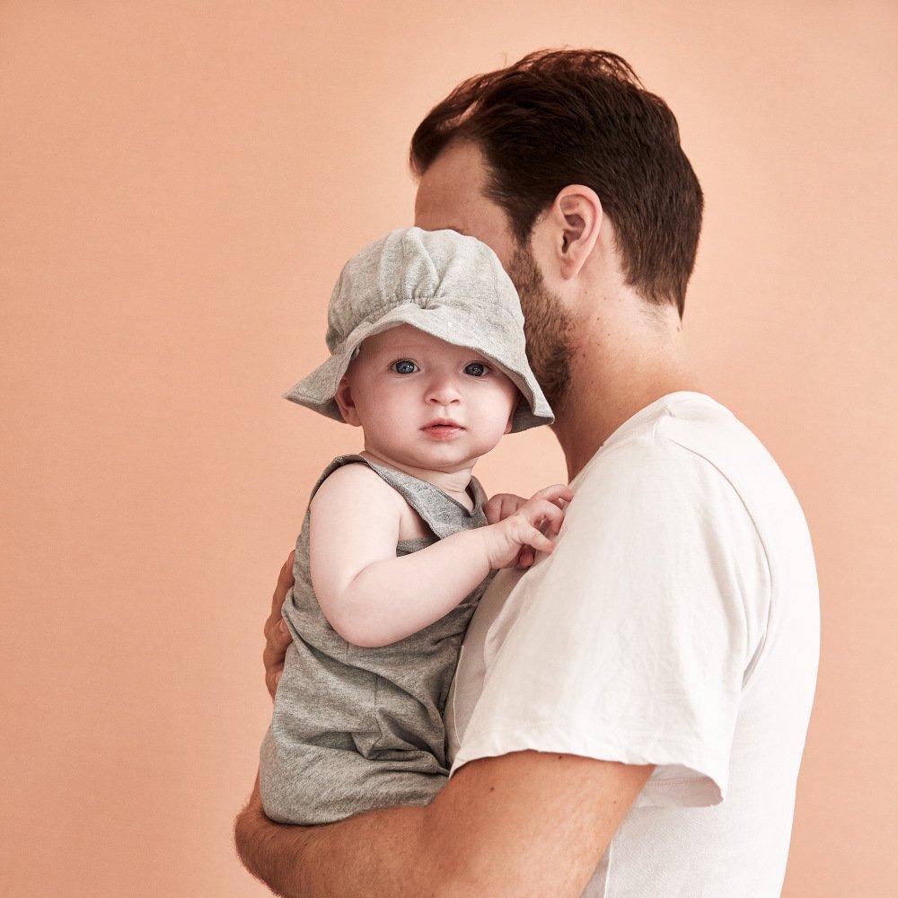 【NEW】Baby Sun Hat Grey Melange img5