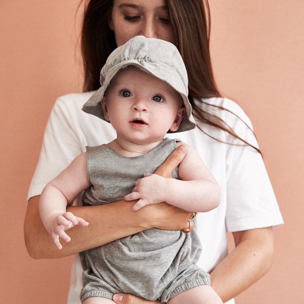 【NEW】Baby Sun Hat Grey Melange img6