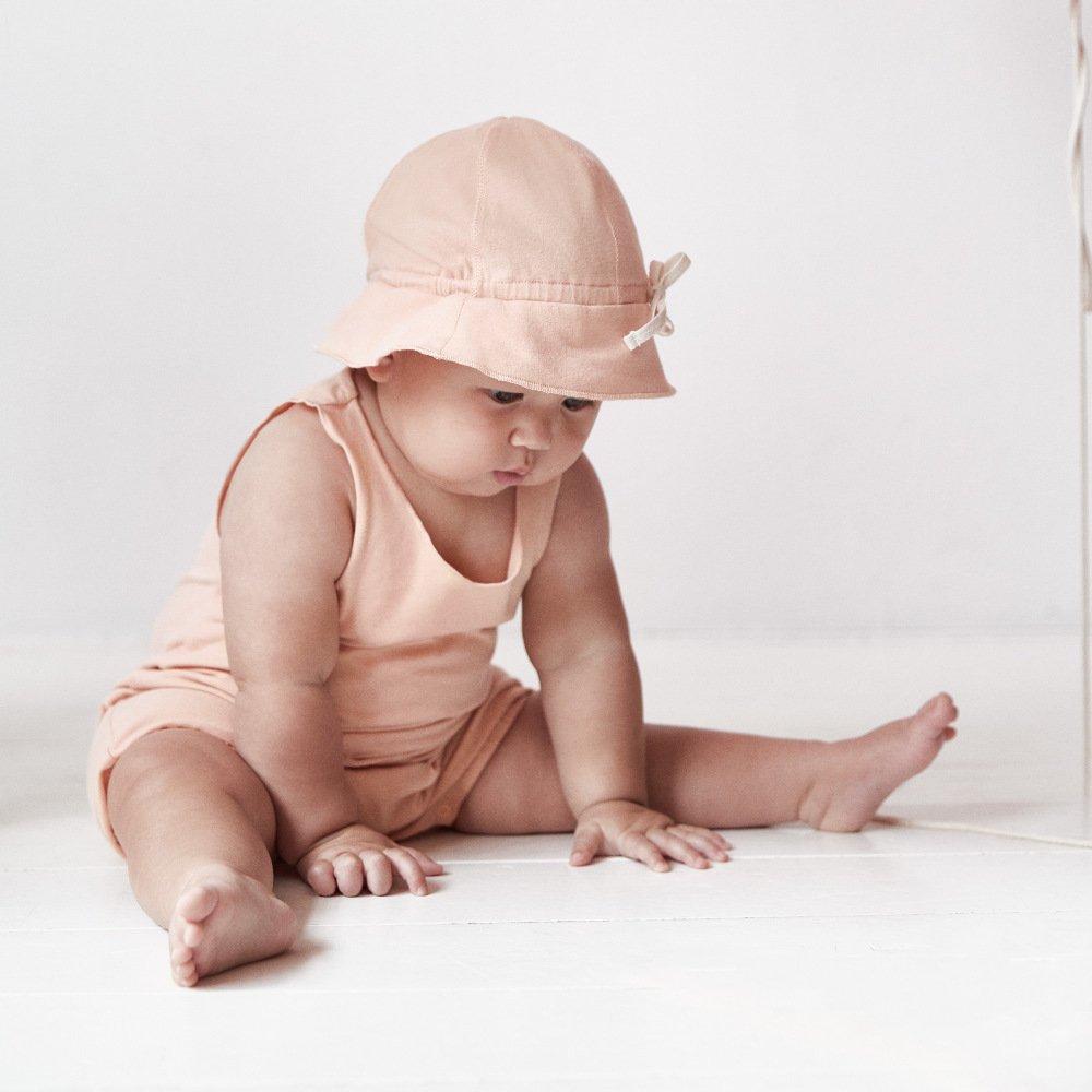 【NEW】Baby Sun Hat Grey Melange img7
