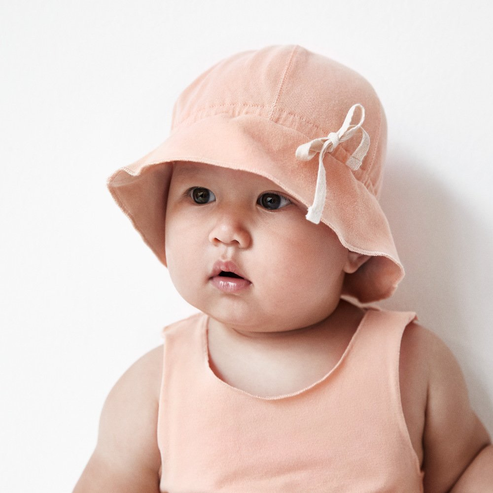 【NEW】Baby Sun Hat Grey Melange img8