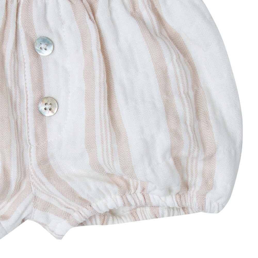 【SUMMER SALE 20%OFF】sand stripe button short img2