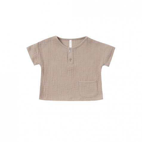 【40%OFF】woven henley tee sand