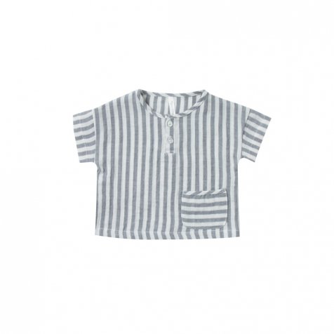 【30%OFF→40%OFF】woven henley tee storm stripe
